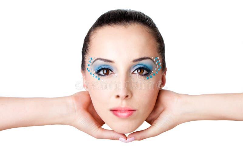 piękna twarzy mody kobieta obrazy royalty free