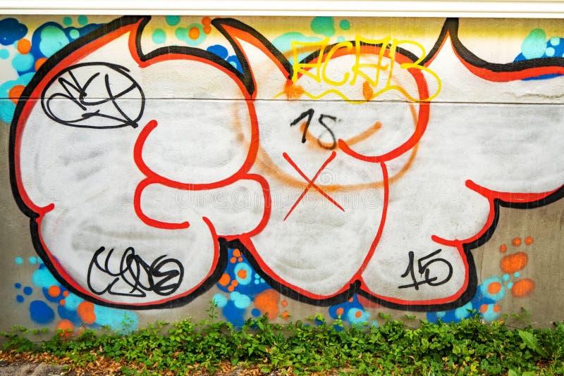 Piękna uliczna sztuka graffiti obrazy stock
