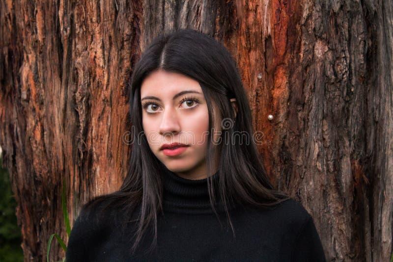 piękna uroda oczy makijaż naturalnego portret dziewczyny fotografia royalty free