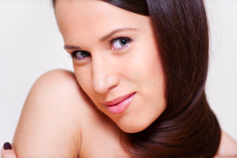 piękna włosiana urocza kobieta fotografia stock