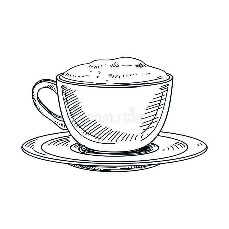 Piękna wektorowa ręka rysująca napój ilustracja royalty ilustracja