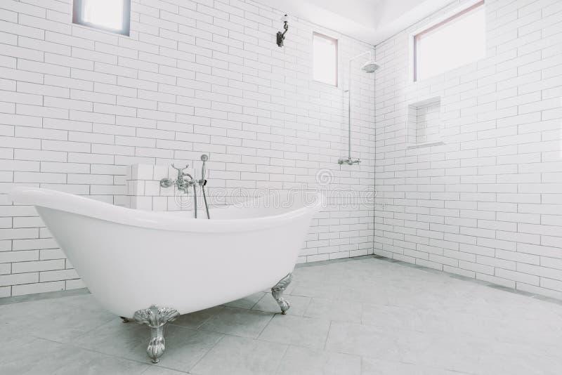 Piękna wielka luksusowa rocznik łazienka obraz stock