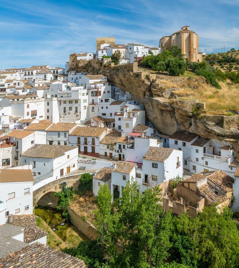 Piękna wioska Setenil De Las Bodegas, Provice Cadiz, Andalusia, Hiszpania obrazy royalty free