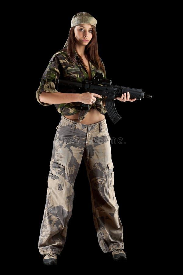 piękna wojsko dziewczyna obrazy stock