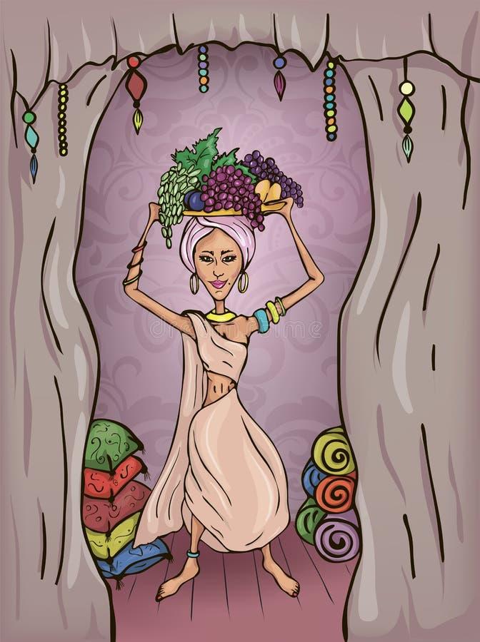 Piękna wschodnia dziewczyna ilustracji