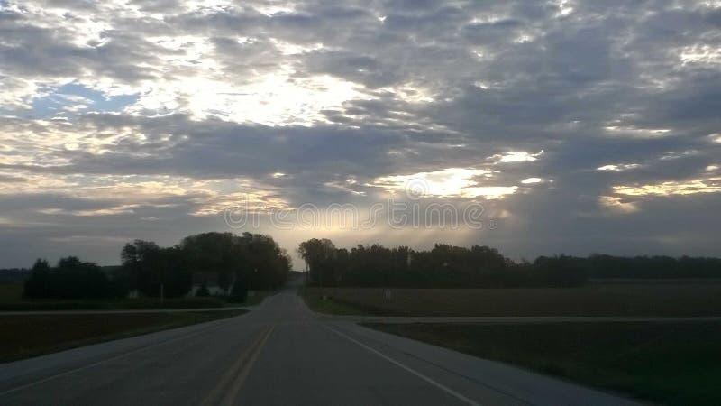Piękna wycieczka na Indiana autostradzie obraz royalty free