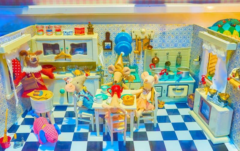Piękna zabawkarska ofmice rodzina, Wiedeń, Austria obrazy stock