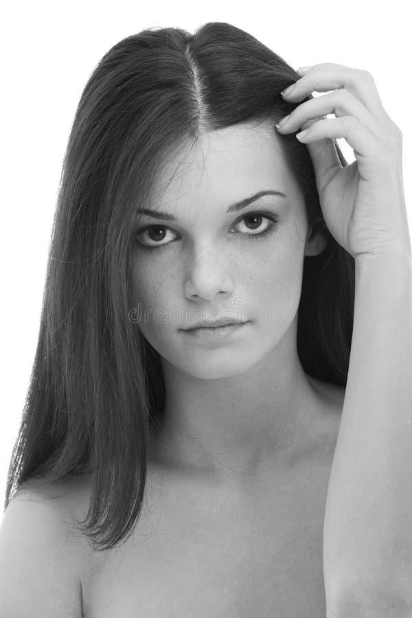 piękna zadumana kobieta fotografia stock