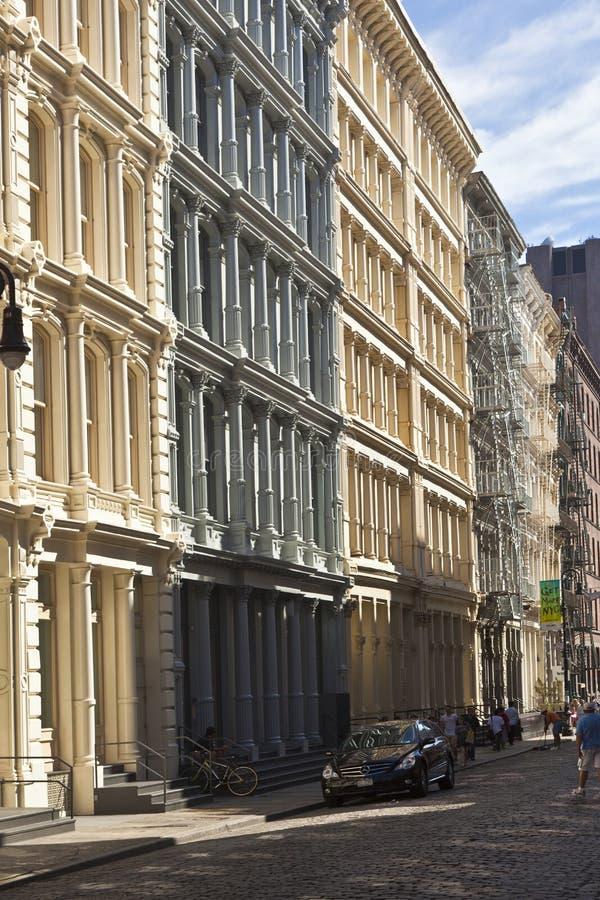 Piękna Zielona ulica zdjęcia stock