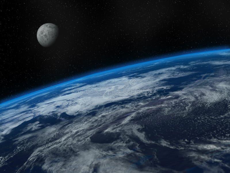 piękna ziemska księżyc ilustracji
