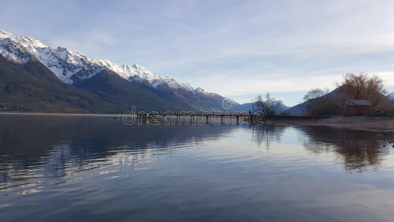 Piękna zimy sceneria brać od Glenorchy, Nowa Zelandia obrazy stock