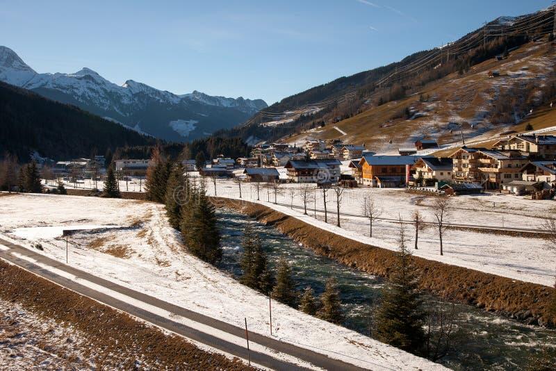 Piękna zimy sceneria w Gerlos, Austria fotografia royalty free