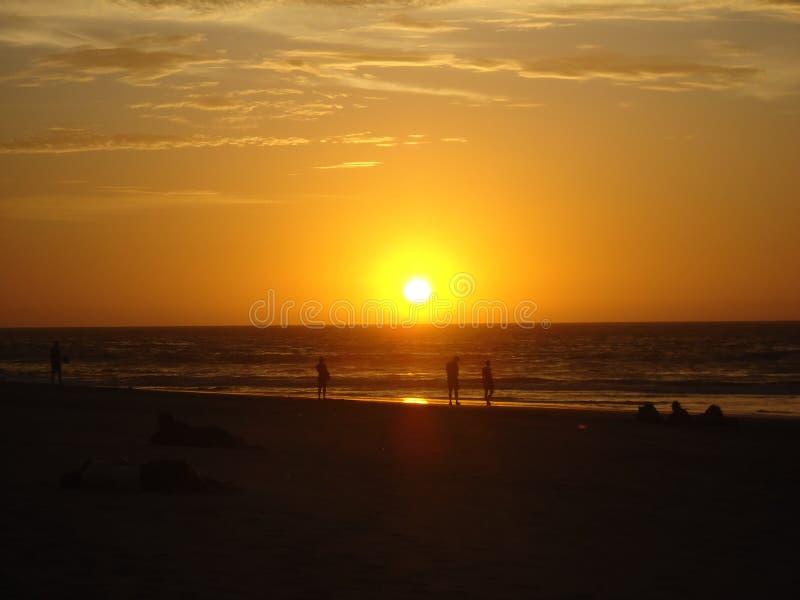 Piękna zmierzch plaża przy Piura zdjęcie royalty free