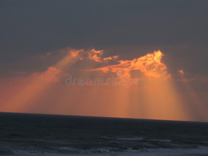 Piękna zmierzchu Atlantyk plaża NC zdjęcia stock