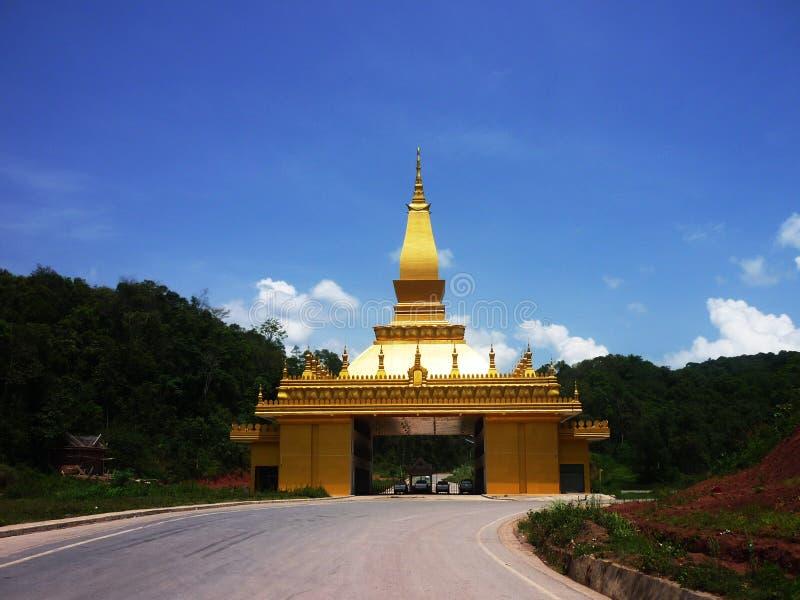 Piękne świątynie i przyciągania Dziejowi w loas zdjęcia royalty free