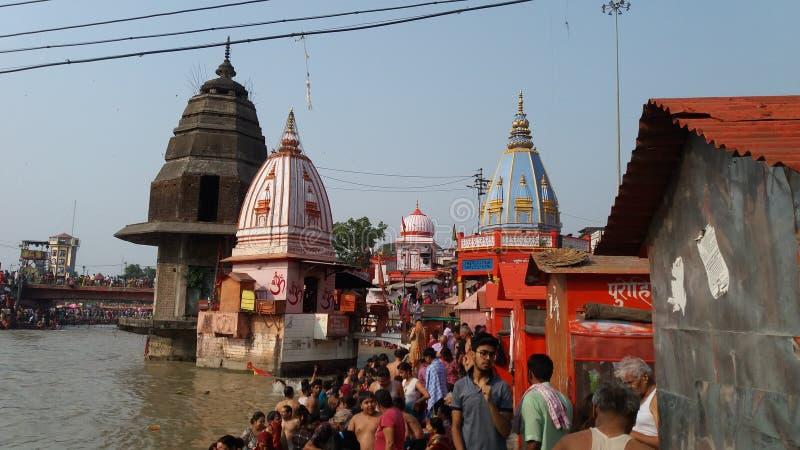 Piękne świątynie w haridwar przy hari ki powri obrazy stock