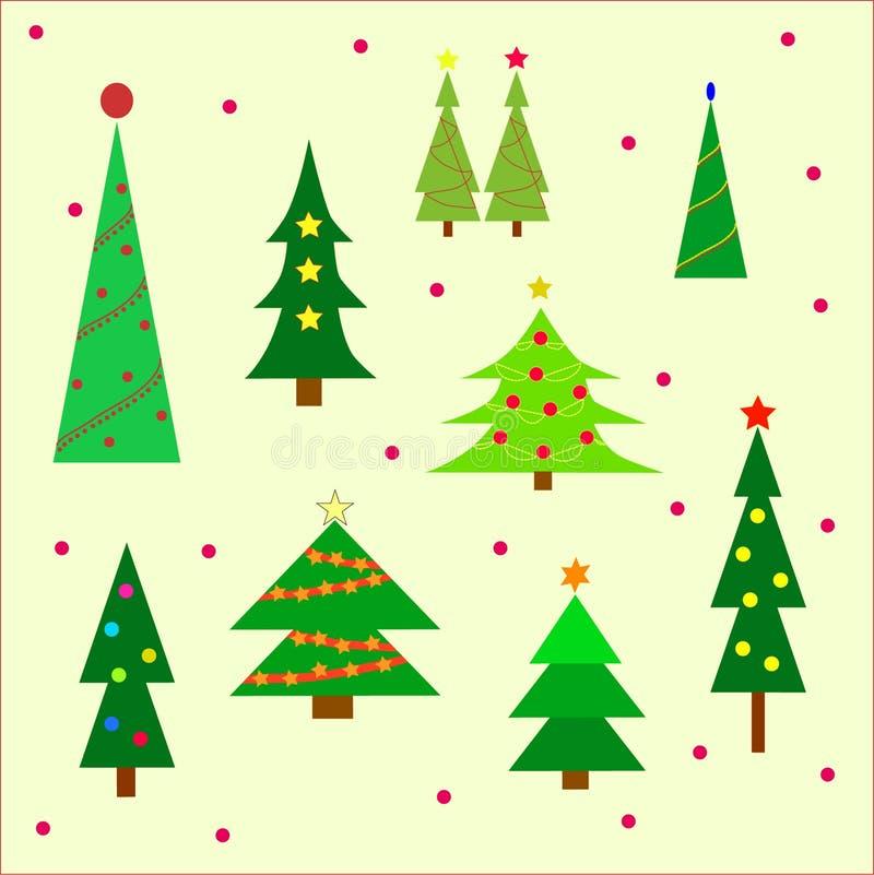 piękne Święta drzew ilustracyjni położenie royalty ilustracja
