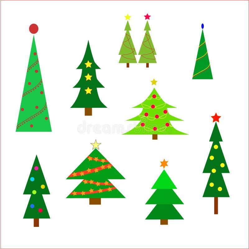 piękne Święta drzew ilustracyjni położenie ilustracja wektor