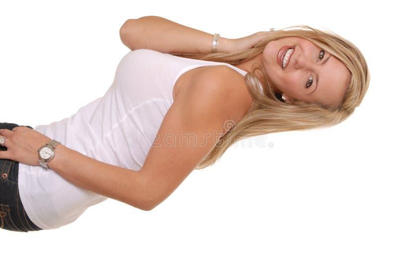 piękne 5 blondynką fotografia royalty free