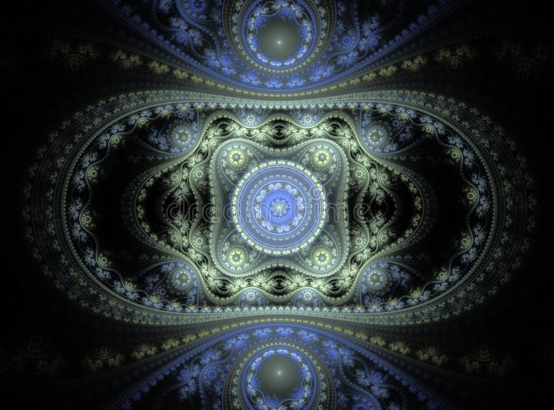 Piękne abstrakcjonistyczne fractal krzywy, ornamenty i fotografia royalty free