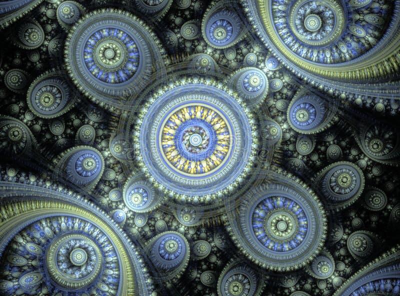 Piękne abstrakcjonistyczne fractal krzywy, ornamenty i zdjęcie royalty free