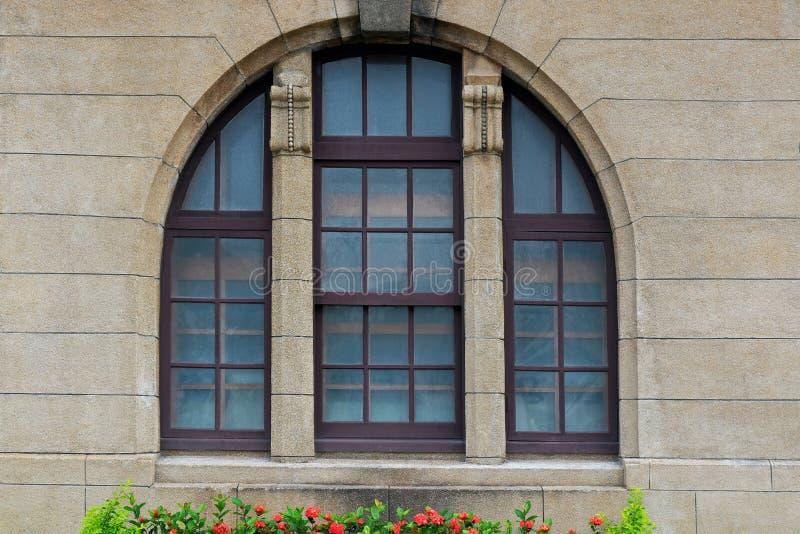 Piękne, Arched Colonial Window zdjęcia stock