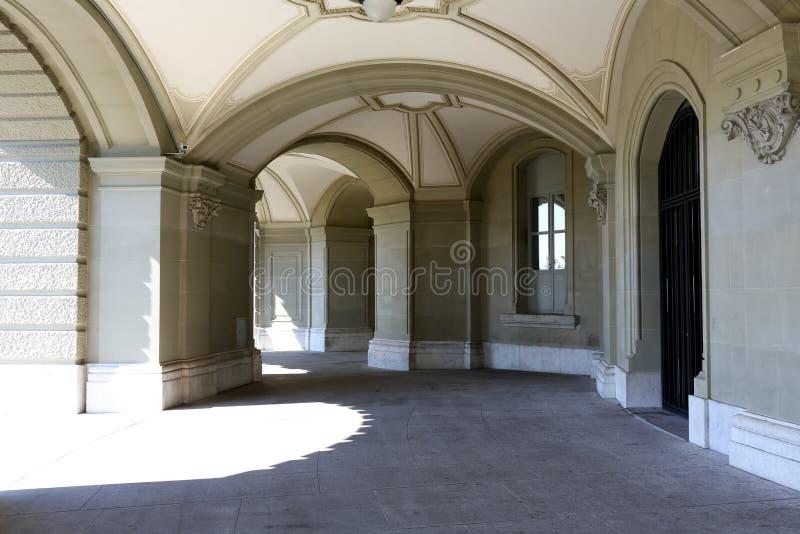 Piękne arkady Federacyjny pałac obrazy stock