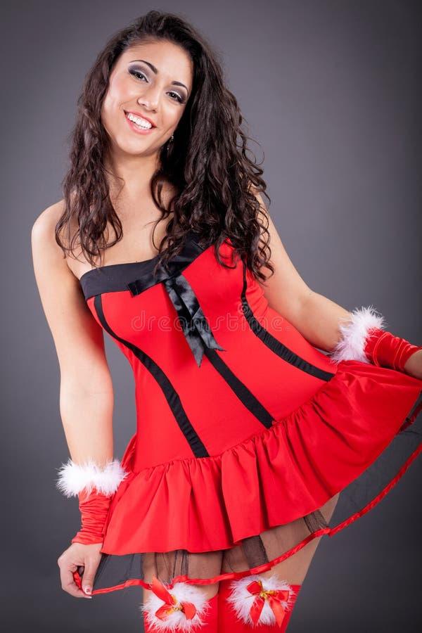 Piękne atrakcyjne Santa kobiety obraz royalty free