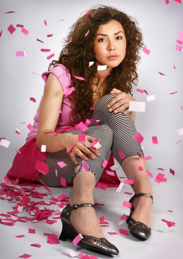 piękne brunetka portret kobiety young zdjęcie stock