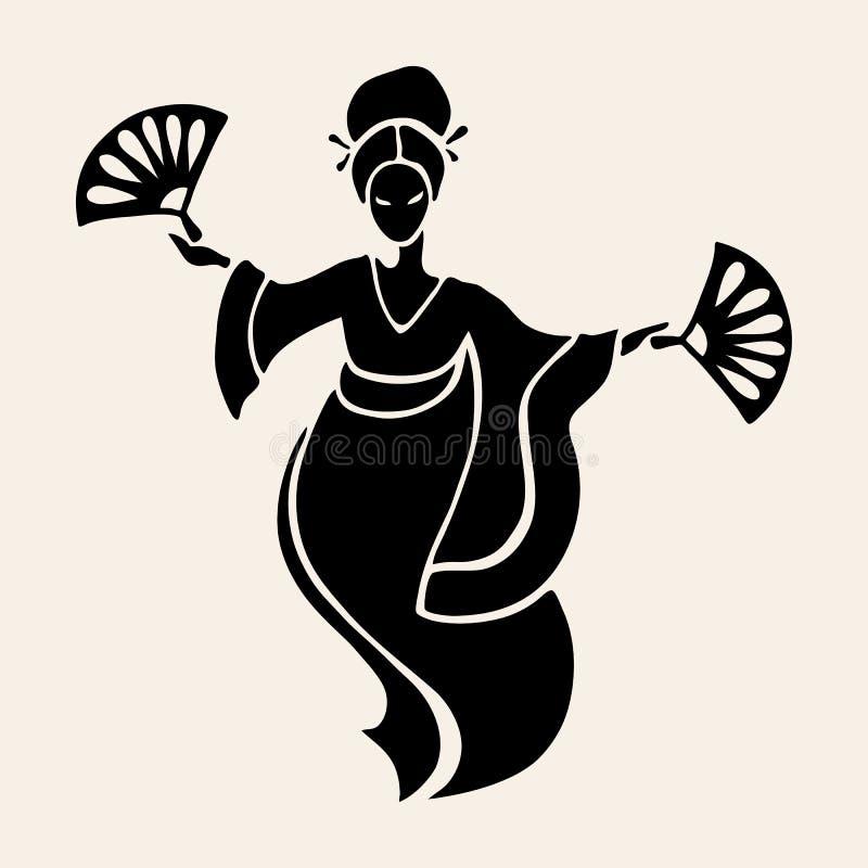 piękne chińskie kobiety ilustracja wektor