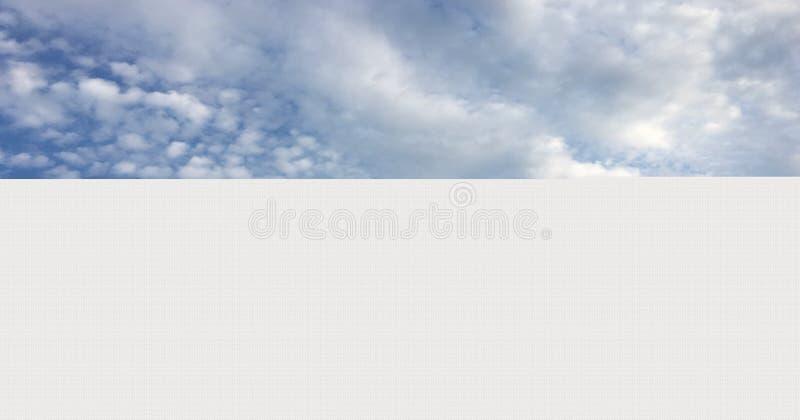 Piękne chmury przeciw niebieskiego nieba tłu Cloudscape niebo Niebieskie niebo z chmurną pogodą, natury chmura Białe chmury, nieb fotografia royalty free