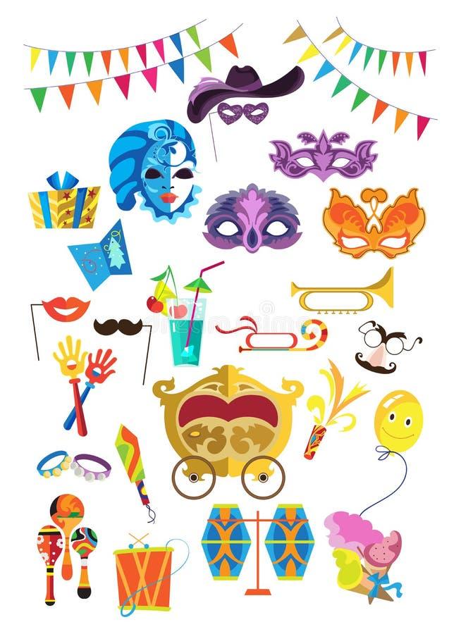 Piękne dekoracyjne maski ilustracji