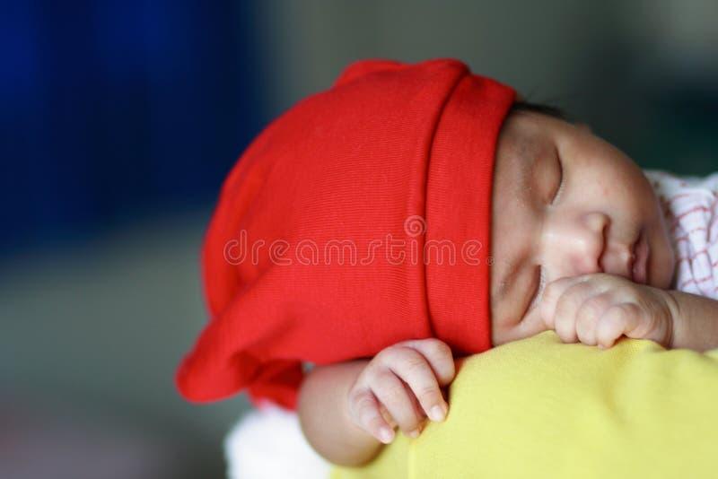 piękne dziecko śpi zdjęcie stock