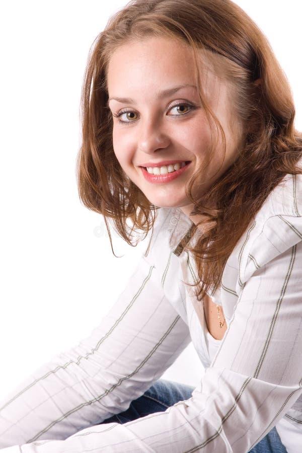 piękne dziewczyny 1 się uśmiecha zdjęcie stock