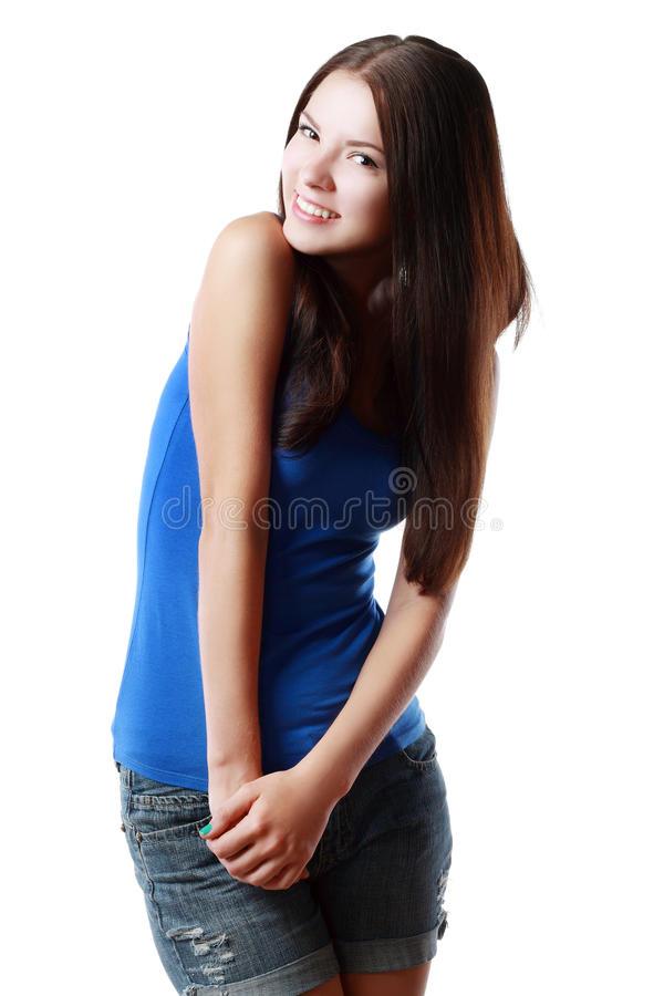 Download Piękne Dziewczyny Się Uśmiecha Obraz Stock - Obraz złożonej z szczęśliwy, uśmiech: 53781569