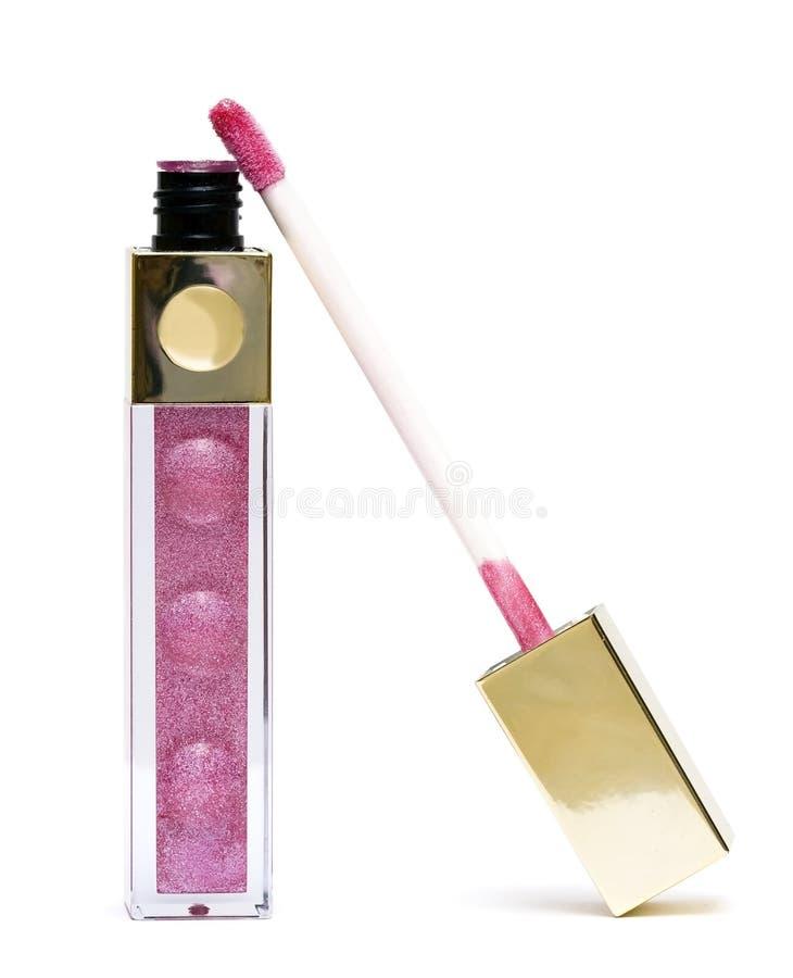 piękne glos różowe usta zdjęcia stock