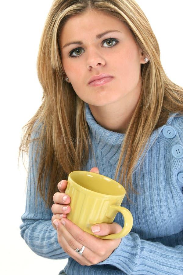 piękne kobiety kubek kawy young zdjęcia royalty free