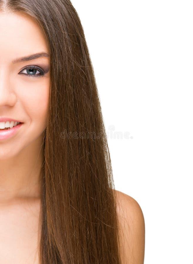 Piękne kobiety, przyrodnia twarz obraz royalty free
