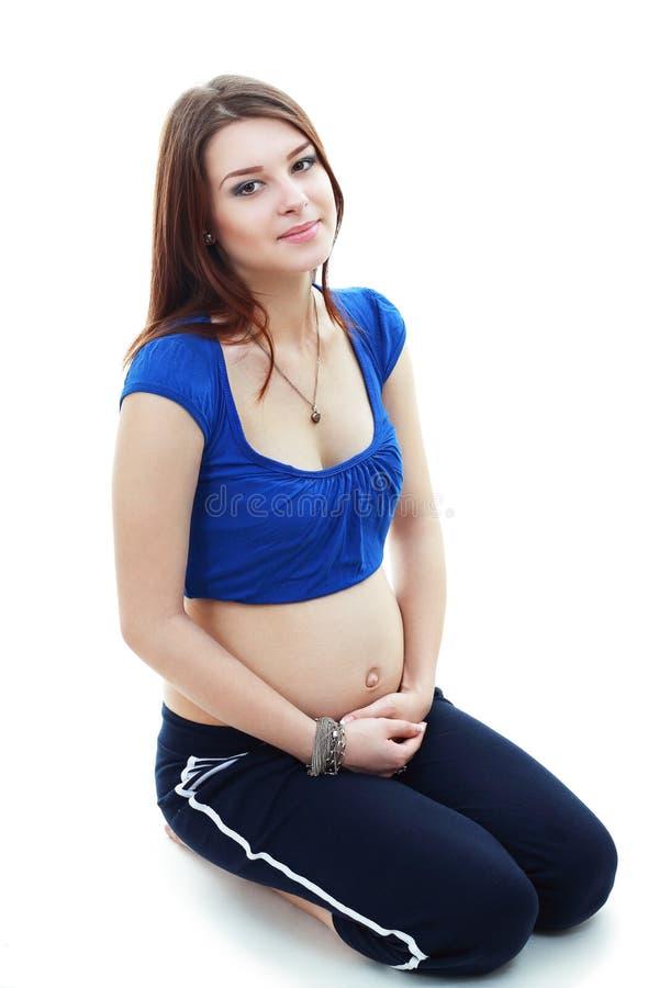 piękne kobiety w ciąży zdjęcie stock