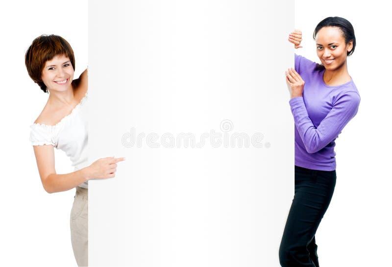Download Piękne Kobiety Z Białą Deską Zdjęcie Stock - Obraz złożonej z jeden, portret: 53791024