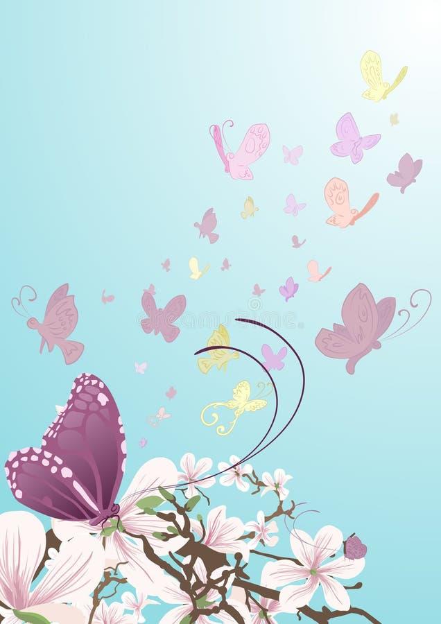 piękne kwiaty motyla ilustracji