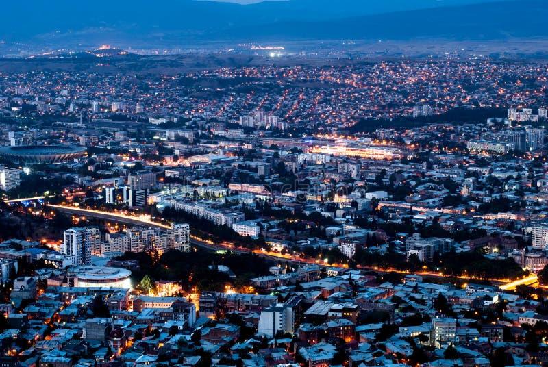 piękne miasto ilustracji krajobrazu noc obraz royalty free