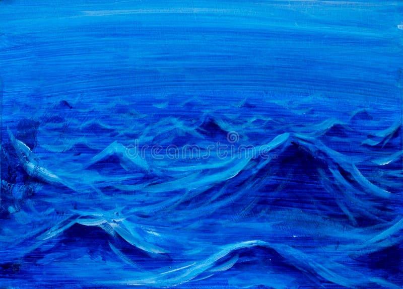 Piękne morze fala Abstrakcjonistyczna turkus fala Morski tło obrazy stock