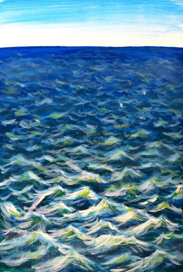 Piękne morze fala Abstrakcjonistyczna turkus fala Morski tło zdjęcia royalty free