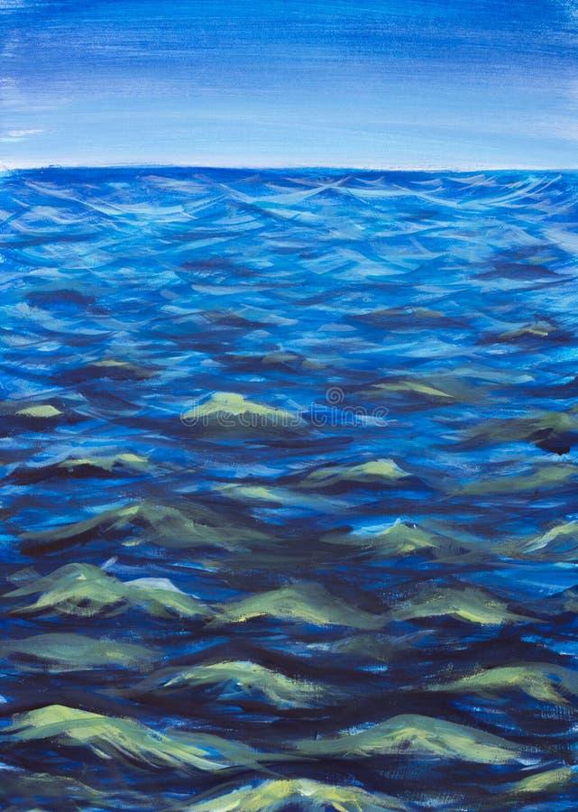 Piękne morze fala Abstrakcjonistyczna turkus fala Morski tło zdjęcie stock