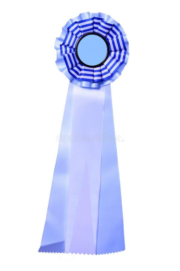 piękne niebieskie nagroda nagroda tasiemkowy white fotografia royalty free