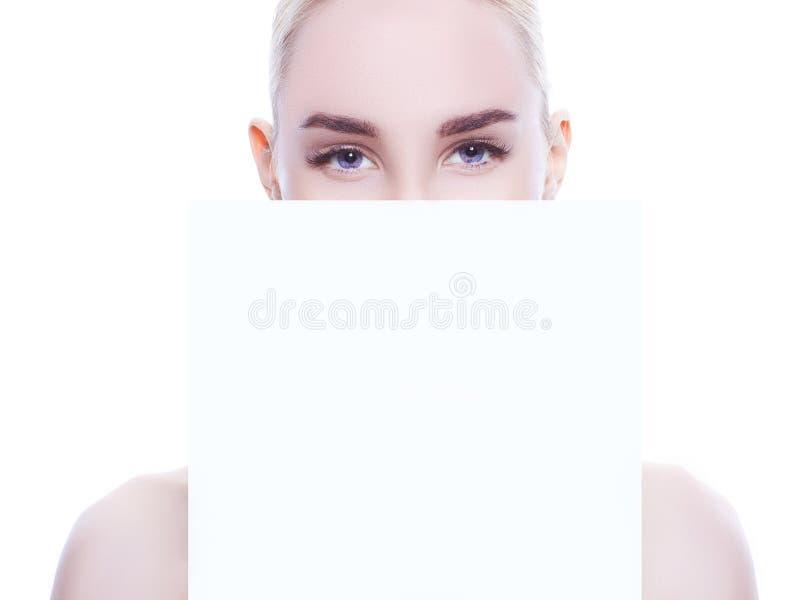 piękne niebieskie oczy fotografia royalty free