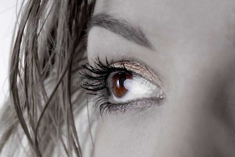 piękne oczy. obrazy stock