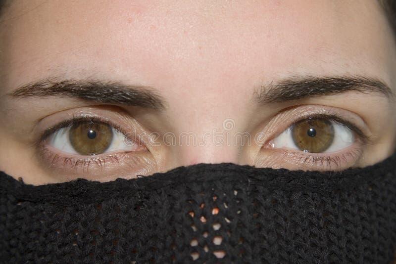 piękne oczy kobiety zdjęcia stock