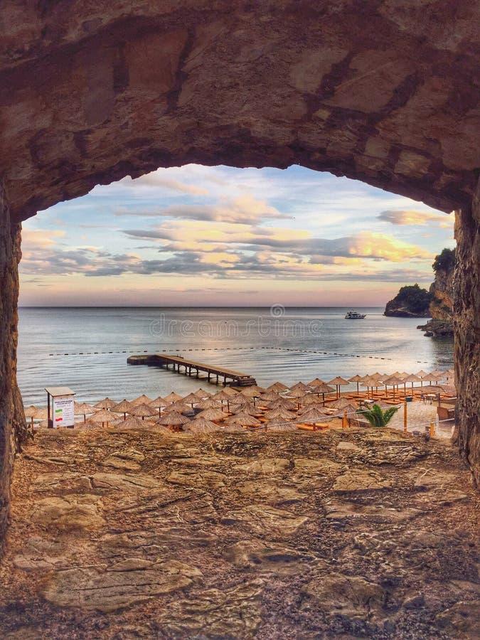Piękne plaże Budva, Montenegro fotografia stock